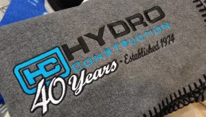 Hydro Construction Embroidered Blanket